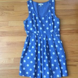 Monteau Blue Polka Dot Dress